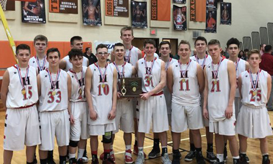Hiland Boys Basketball - Division 4 East District Champions