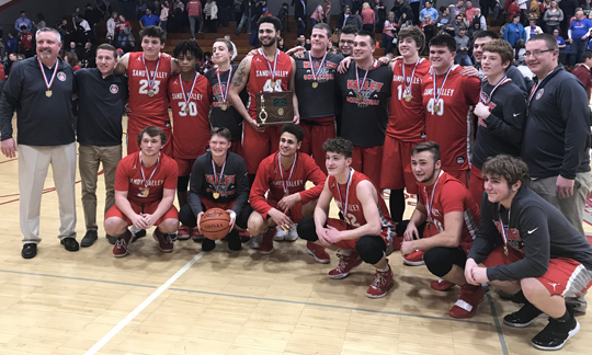 Sandy Valley Boys Basketball - Division 3 East District Champions