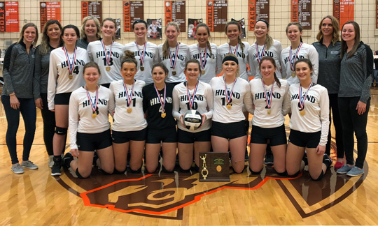 Hiland Volleyball - Division III East 1 District Champions